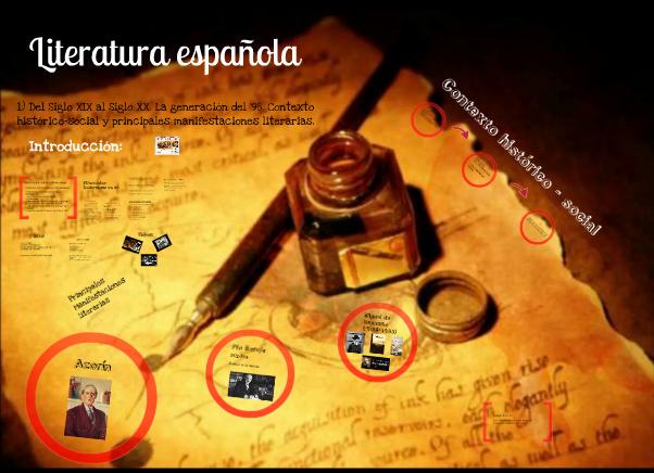 https://prezi.com/vj0vkj-kgecl/literatura-espanola-del-siglo-xix-al-siglo-xx-la-generacion-del-98-contexto-historico-social-y-principales-manifestaciones-literarias/
