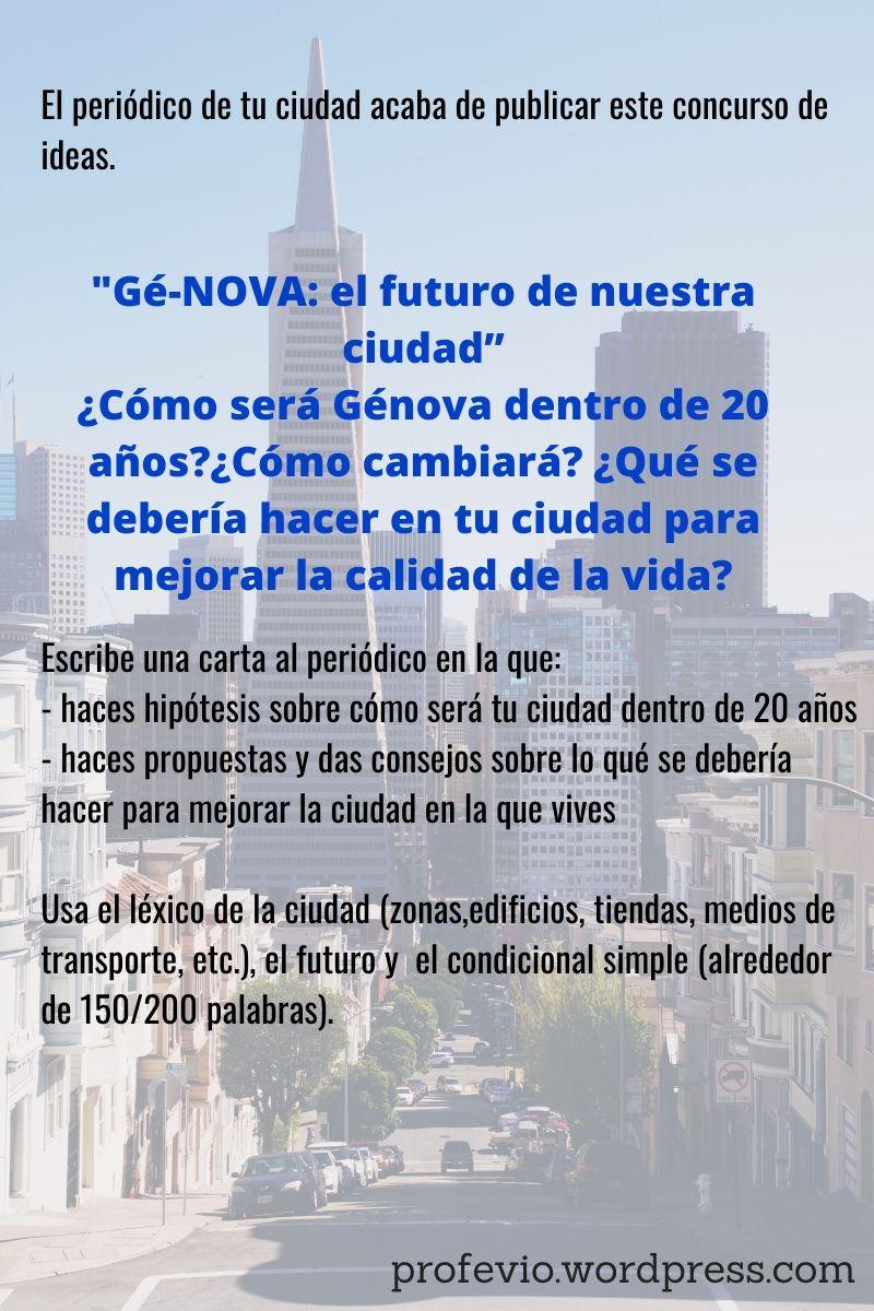 Hacer hipótesis y predicciones. El futuro en español (2). La ciudad del futuro.